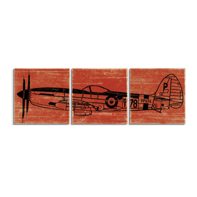 vintage airplane wall art