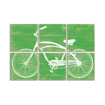 vintage bicycle wall art