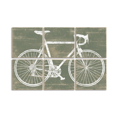 vintage bike wall art