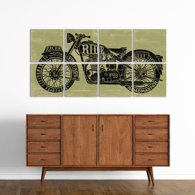 vintage motorcycle art