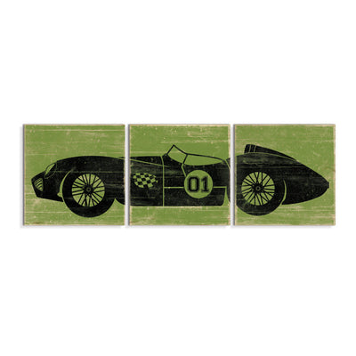 vintage race car decor