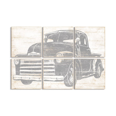 vintage truck nursery art by right grain