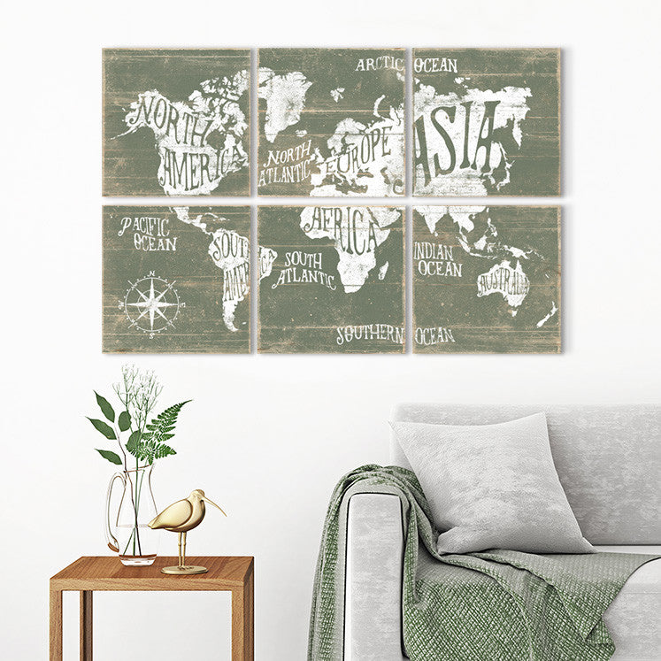 wall art world map