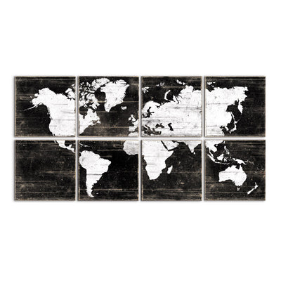 world map decor