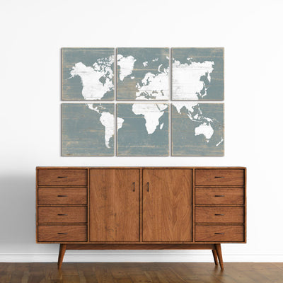 world map nursery art