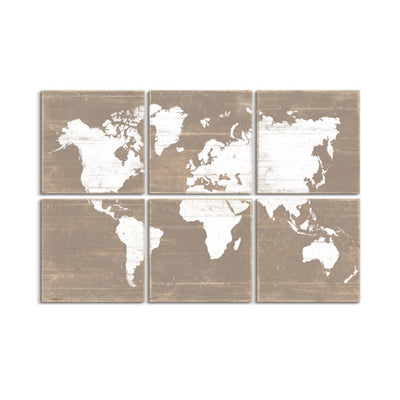 world map wall art by rightgrain
