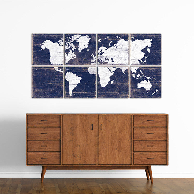 Large world map wall art for sale 6 piece wall art by rightgrain world maps for sale gumiabroncs Image collections
