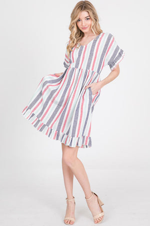 Naila Ruffled Dress