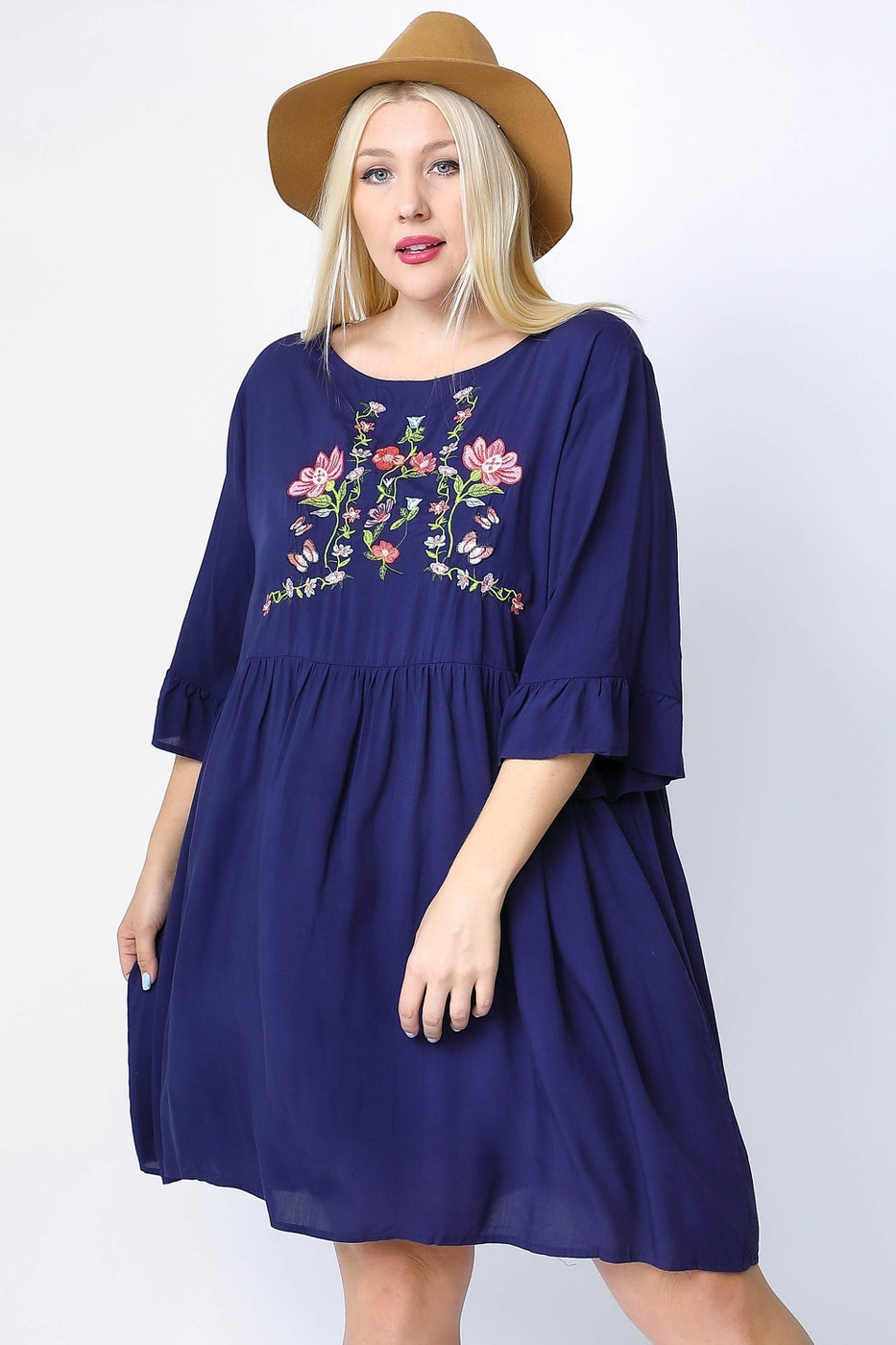 Addison Embroidered Dress
