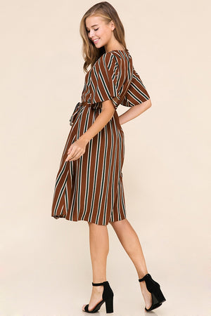 Burke Stripe Midi Dress