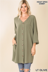 Basic Tunic in Light Olive