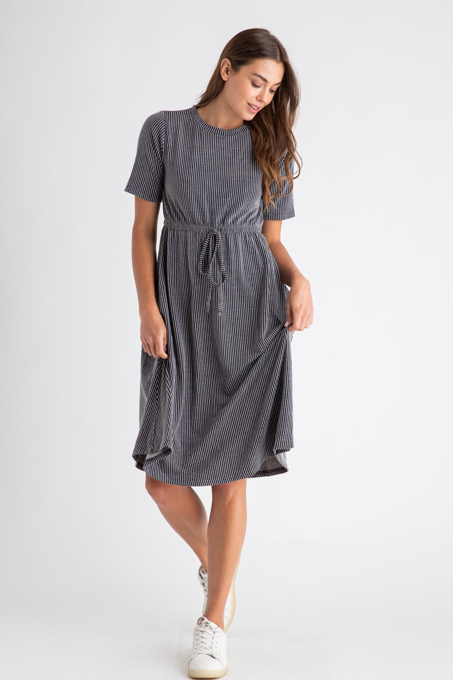 Willow Midi Dress in Black
