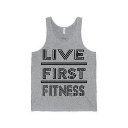 Men's Live First Fiteness Jersey Tank - Live First Fitness