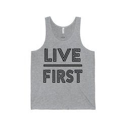 Men's Live First Jersey Tank - Live First Fitness