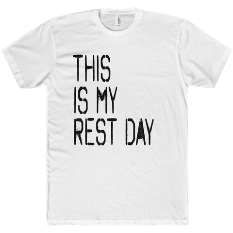 Men's This Is My Rest Day Premium Fitted Short-Sleeve Crew Neck T-Shirt - Live First Fitness