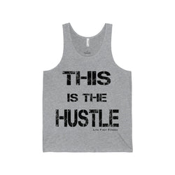Mens This Is The Hustle Jersey Tank - Live First Fitness