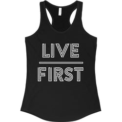 Live First Ideal Racerback Tank - Live First Fitness