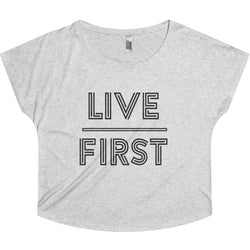 Live First Tri-Blend Dolman - Live First Fitness