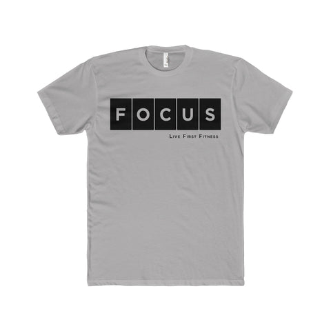 Men's Focus Premium Fitted Short-Sleeve Crew Neck T-Shirt - Live First Fitness