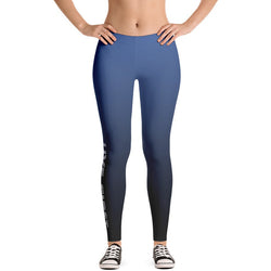 Blue Ombre Dip Dye Leggings - Live First Fitness