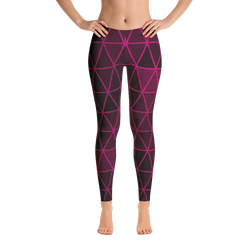 Pink Diamond Graphic Print Leggings - Live First Fitness