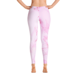 Pink Marble Leggings - Live First Fitness