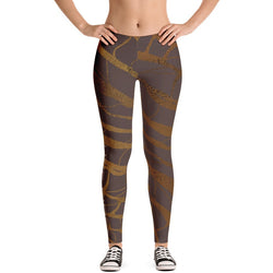 Gold Marble Stripe Leggings - Live First Fitness