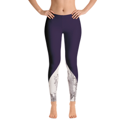 Arctic Marble Color Block Print Leggings - Live First Fitness
