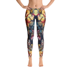 Color Floral Print Leggings - Live First Fitness