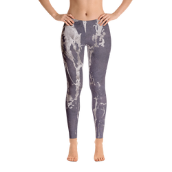 Arctic Marble Purple Pattern Leggings - Live First Fitness