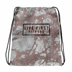 Arctic Marble Drawstring bag - Live First Fitness