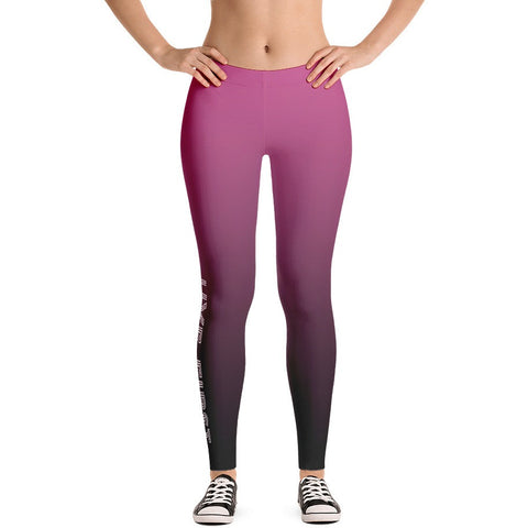 Pink Ombre Dip Dye Leggings - Live First Fitness