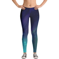 Purple and Blue Galaxy Leggings - Live First Fitness