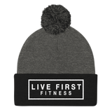Live First Fitness Pom Pom Knit Cap - Live First Fitness