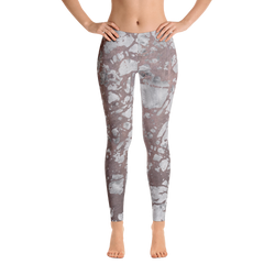 Distressed Stone Print Leggings - Live First Fitness