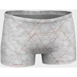 Geometric Marble Shorts - Live First Fitness