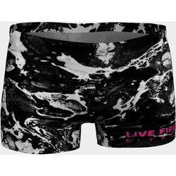 Black Marble Yoga Workout Shorts - Live First Fitness