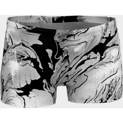 Black and White Marble Yoga Workout Shorts - Live First Fitness