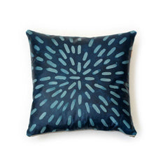 Sunburst Dash Leather Pillow