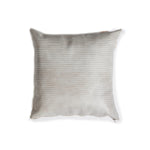 Hairline Stripe Leather Pillow