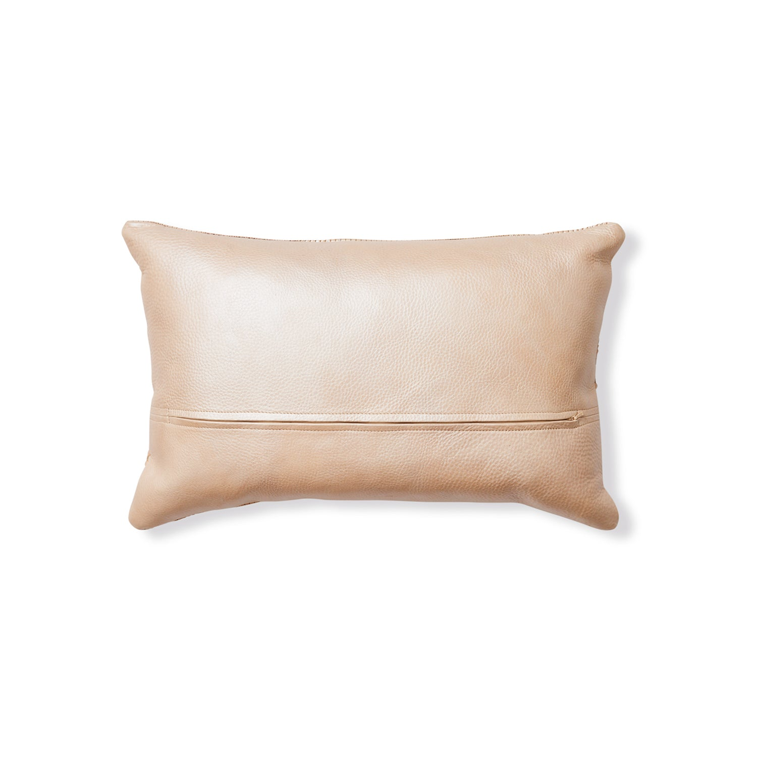 Mica Woven Leather Pillow