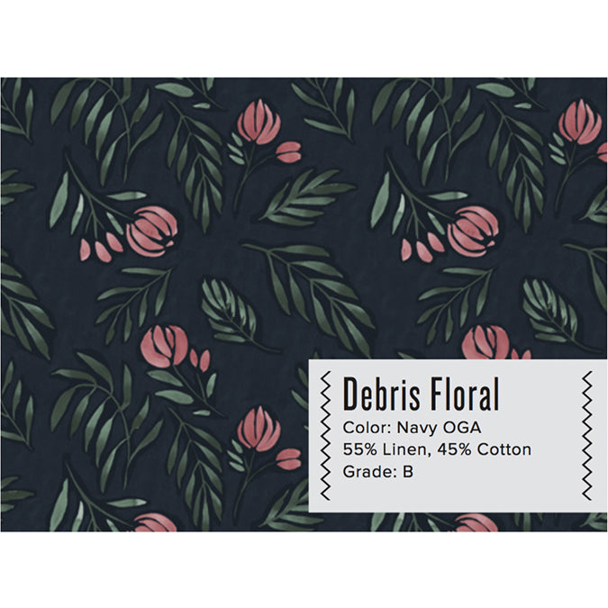 DEBRIS FLORAL CURTAIN PANEL