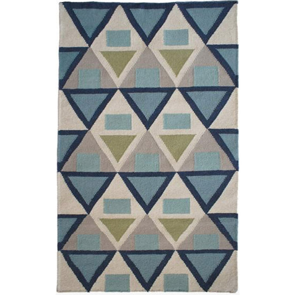 GRAPHIC FLAT-WEAVE RUG