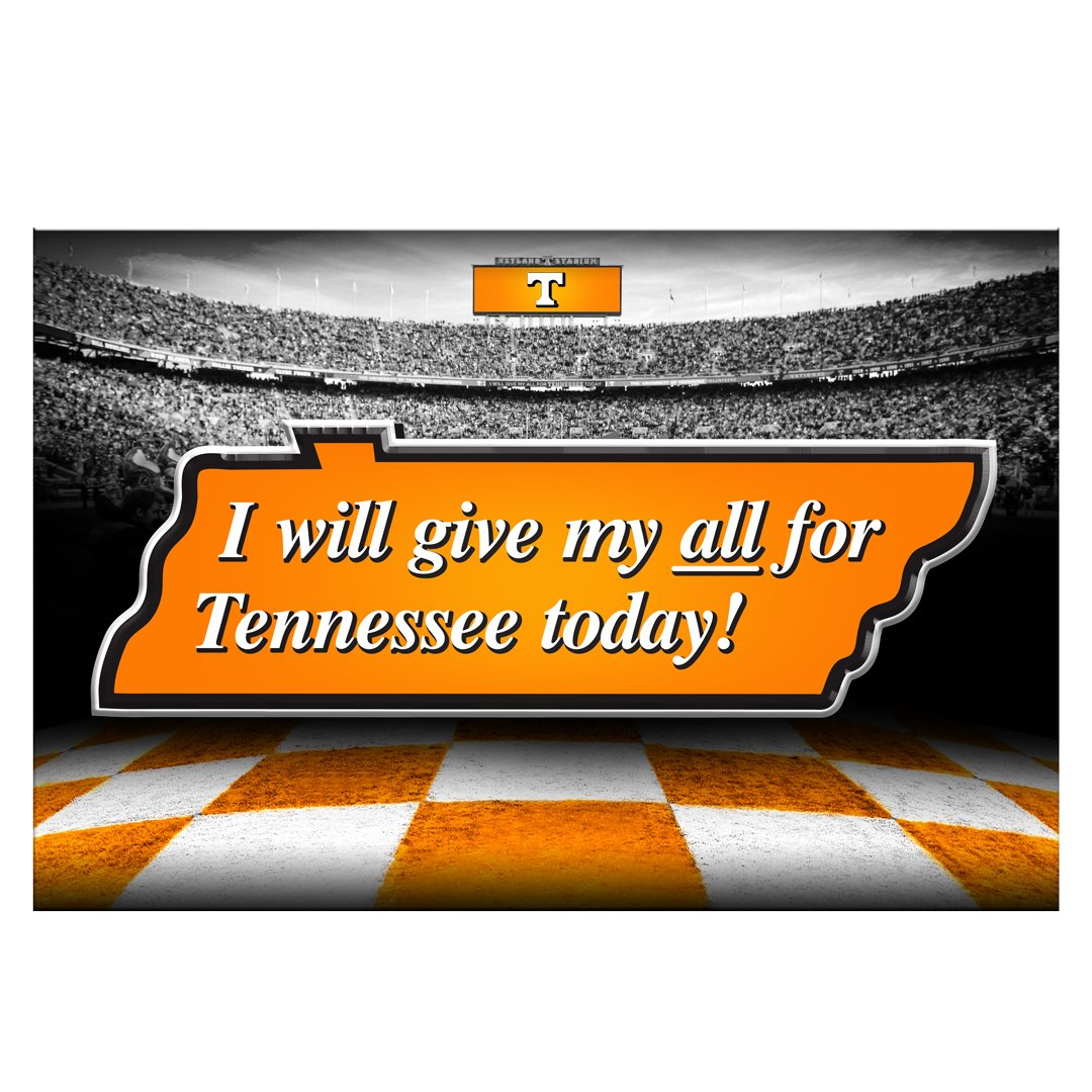 Tennessee Volunteers - Give my all for TN 2 layer Dimensional - College Wall Art #Dimensional