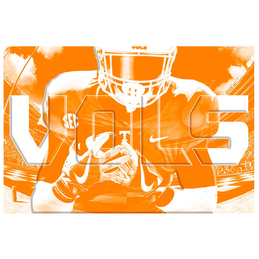 Tennessee Volunteers - Vols 2 layer Dimensional - College Wall Art #Dimensional