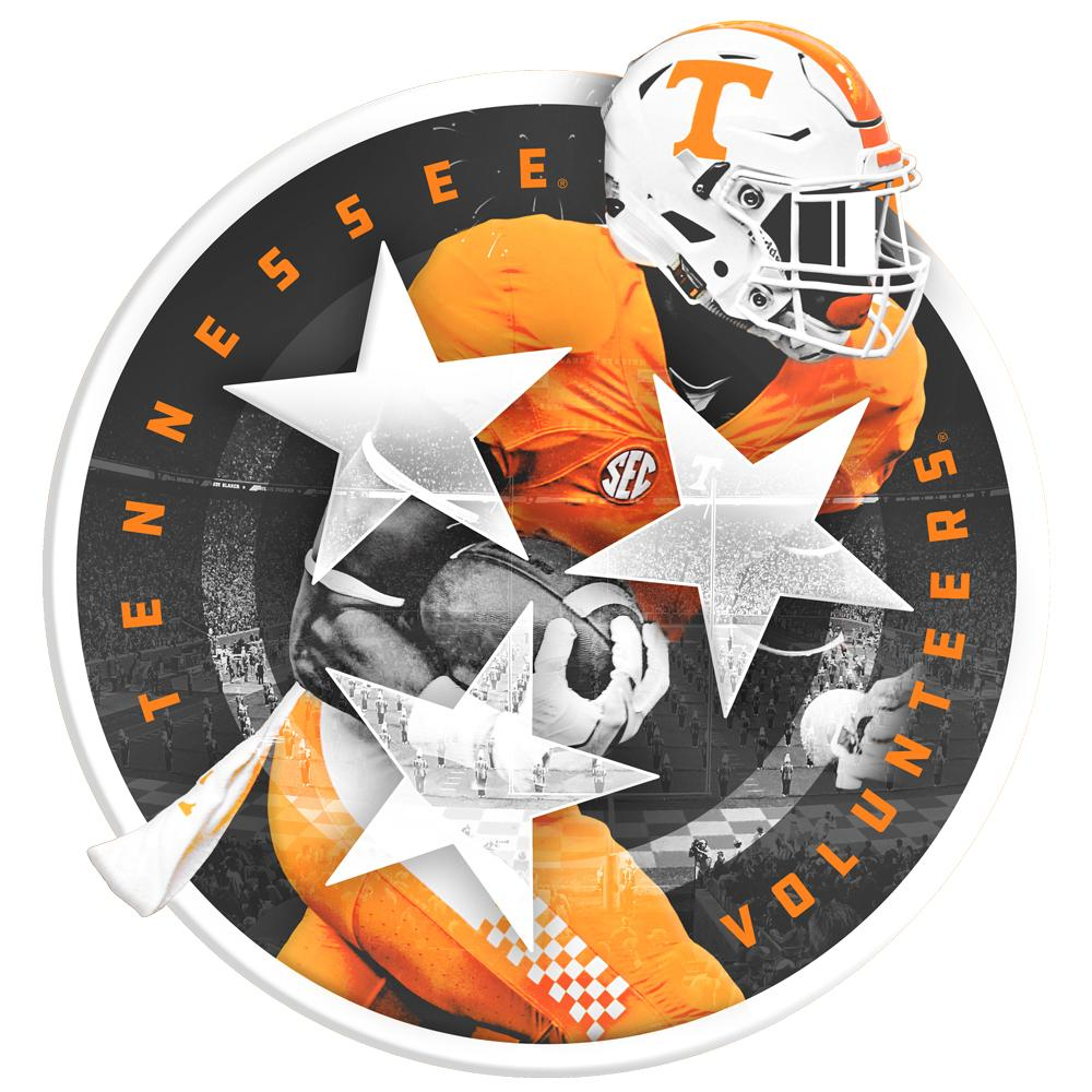 Tennessee Volunteers - Tri Star Volunteer cut out 1 layer Dimensional - College Wall Art #Dimensional