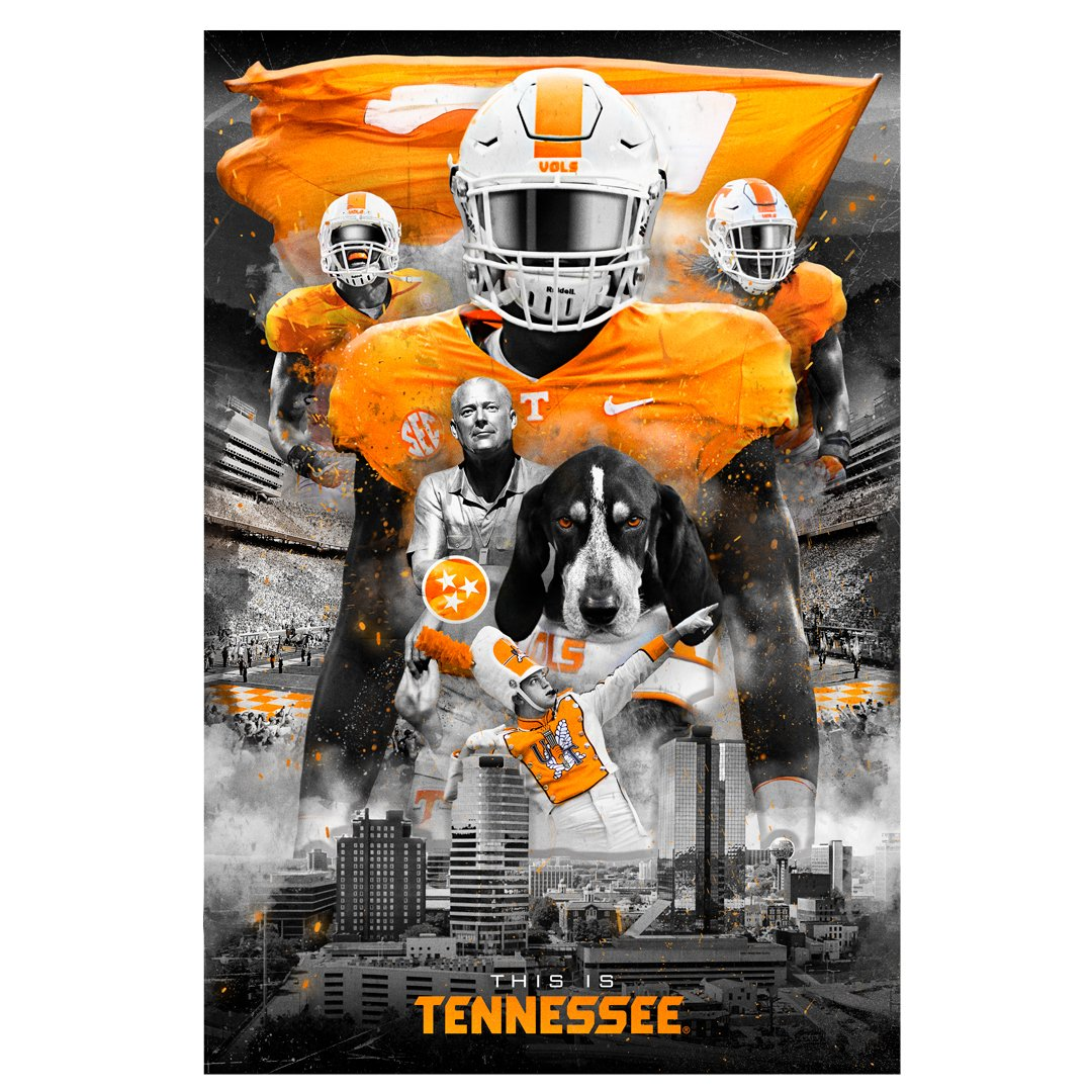 Tennessee Volunteers -  This is Tennessee 2 Layer Dimensional - College Wall Art #Dimensional