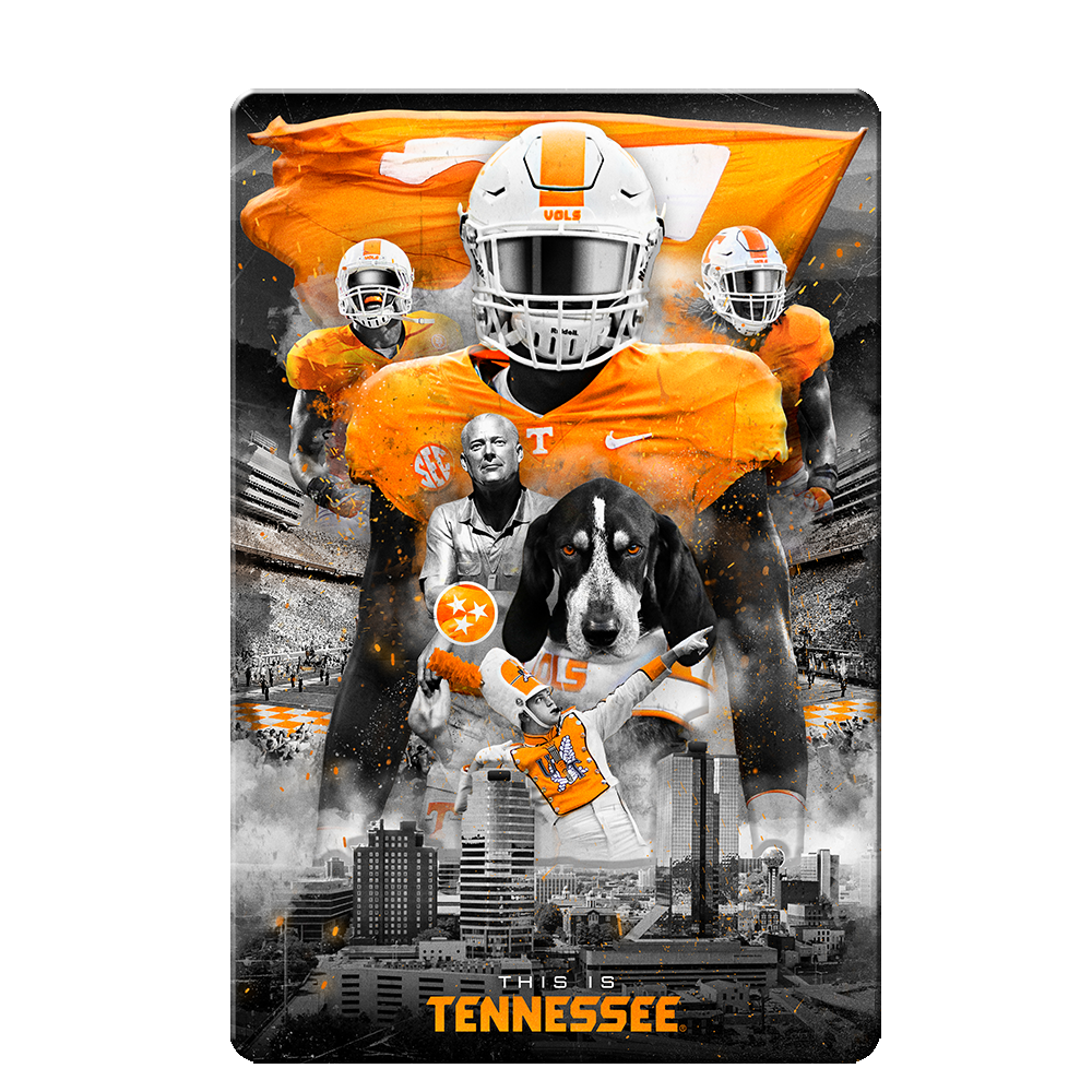 Tennessee Volunteers - This is Tennessee 4-Layer Dimensional Wall Art