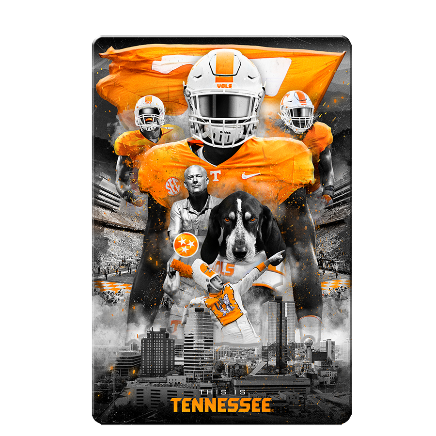 Tennessee Volunteers - This is Tennessee 4 layer Dimensional Wall Art