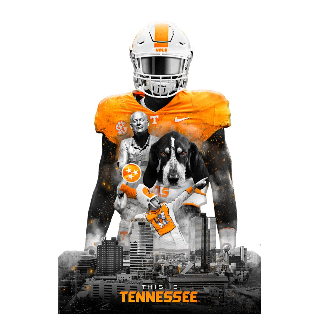 Tennessee Volunteers - This is Tennessee Cut out 1 layer Dimensional - College Wall Art #Dimensional